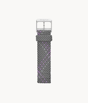 20mm Misfit Smartwatch Gray Multi-Color Nylon Strap