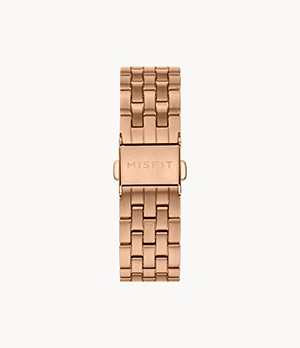 16mm Misfit Smartwatch Rose-Tone Stainless Steel Bracelet