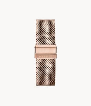 20mm Misfit Smartwatch Rose-Tone Mesh Bracelet