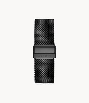 20mm Misfit Smartwatch Jet Mesh Bracelet