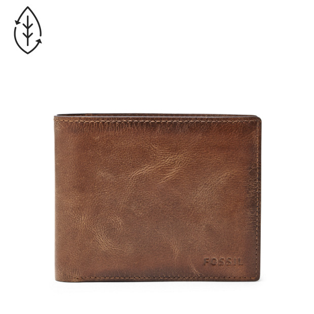 5dfe1bcdd81bf Derrick RFID Large Coin Pocket Bifold - Fossil