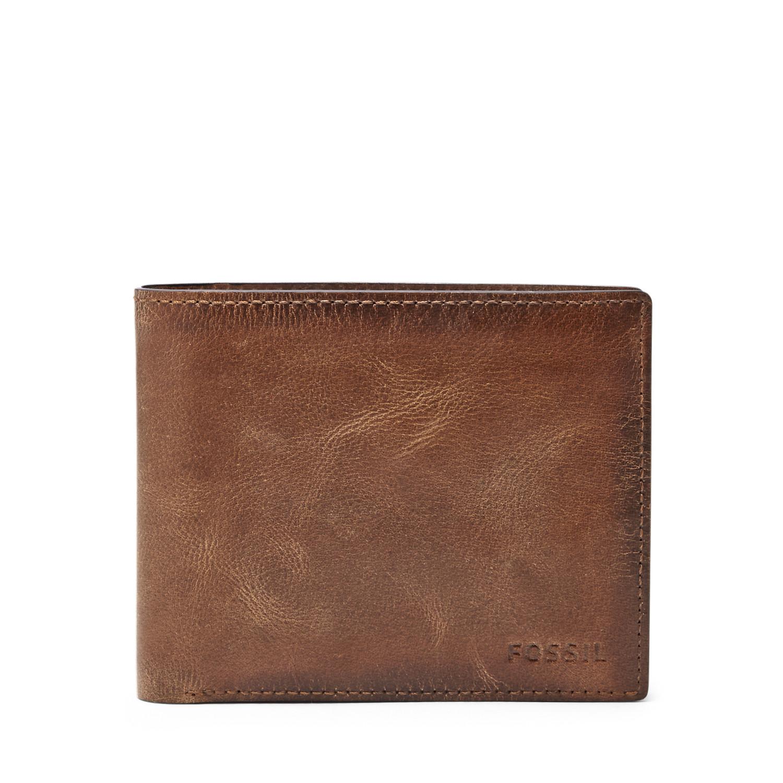 627450b13b820 Herren Geldbörse Derrick - RFID Large Coin Pocket Bifold - Fossil