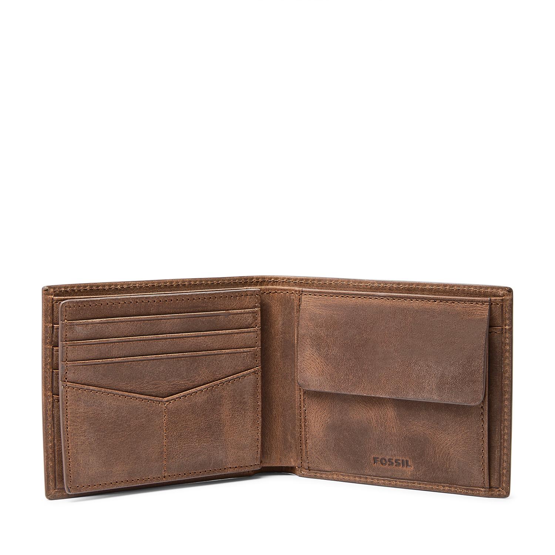 Portefeuille en cuir à deux volets, avec un compartiment pour la monnaie