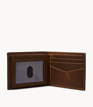 Derrick Bifold w/ Flip ID and Belt Gift Set