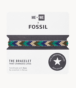 ME to WE x Fossil Micro Bead Education Bracelet