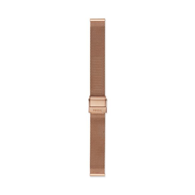 7ded1c3f67eeb9 14mm Rose-Gold Tone Steel Mesh Bracelet - Fossil