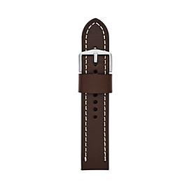 22mm Dark Brown Leather Watch Strap