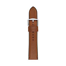 Bracelet de montre Estate en cuir et en silicone brun clair de 22mm