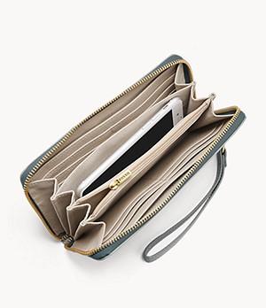 Damen Geldbörse Logan - RFID Zip Around Clutch