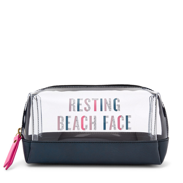 Bailey Small Cosmetic Case Fossil