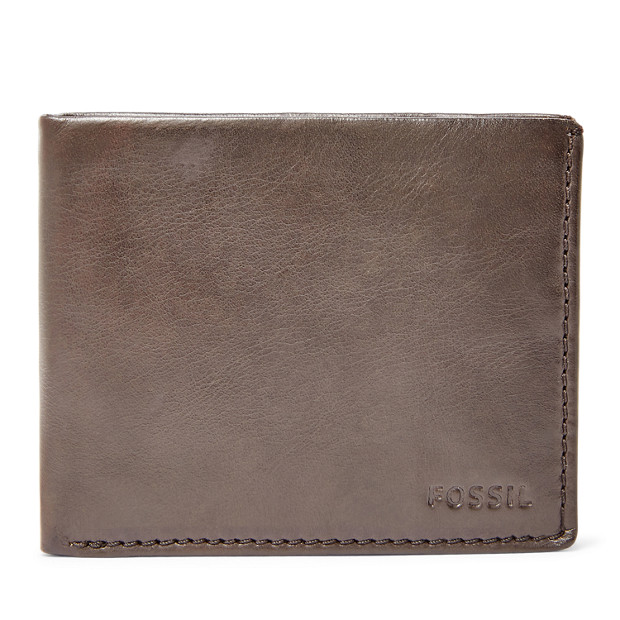 Fossil Carter Rfid Traveler Leather Material