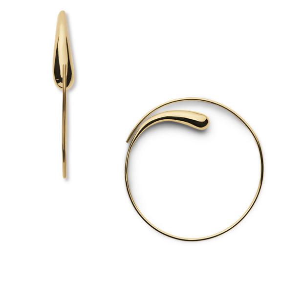 Soko Dash Hoop Earrings Brass EPYgJvM