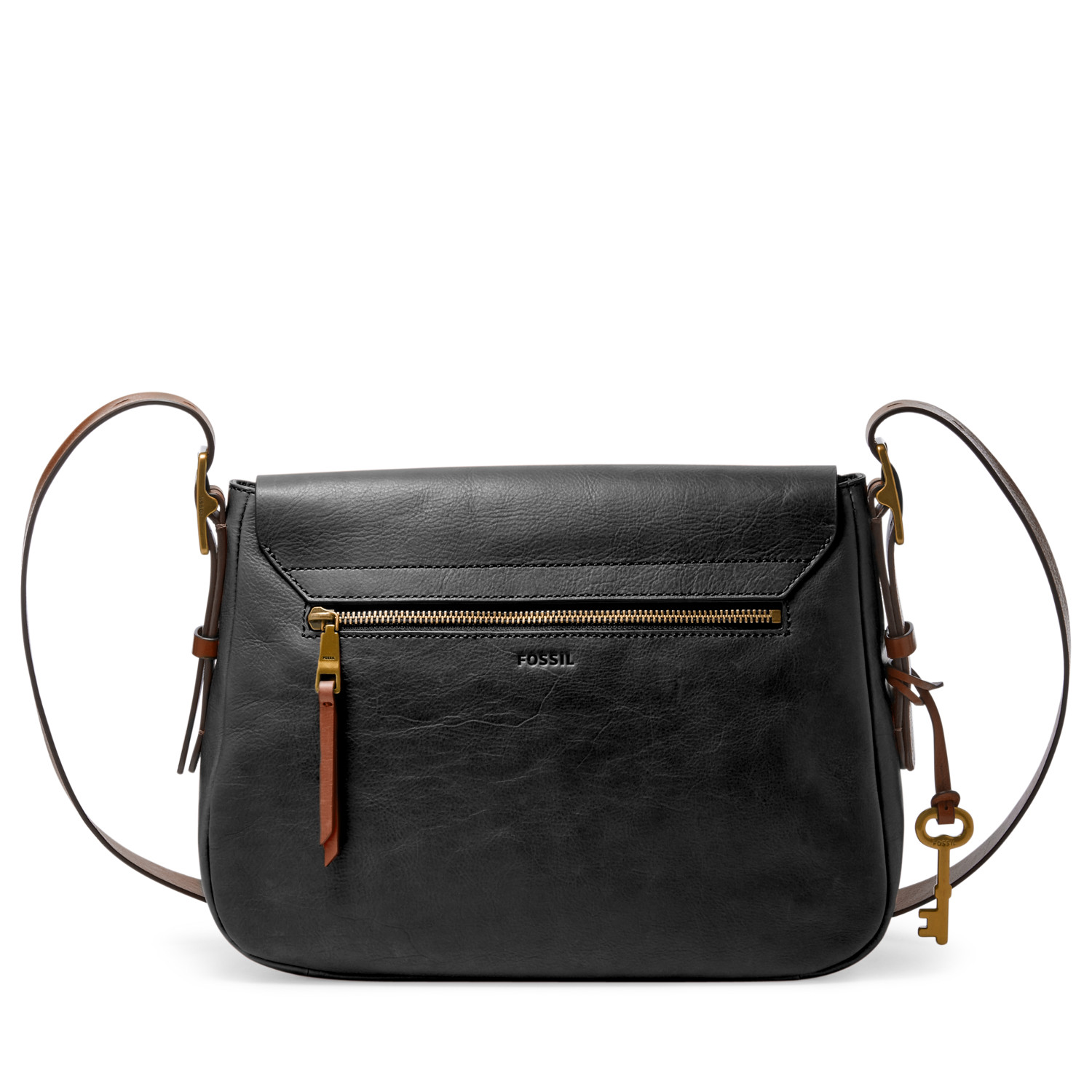 Harper Large Saddle Crossbody - Fossil