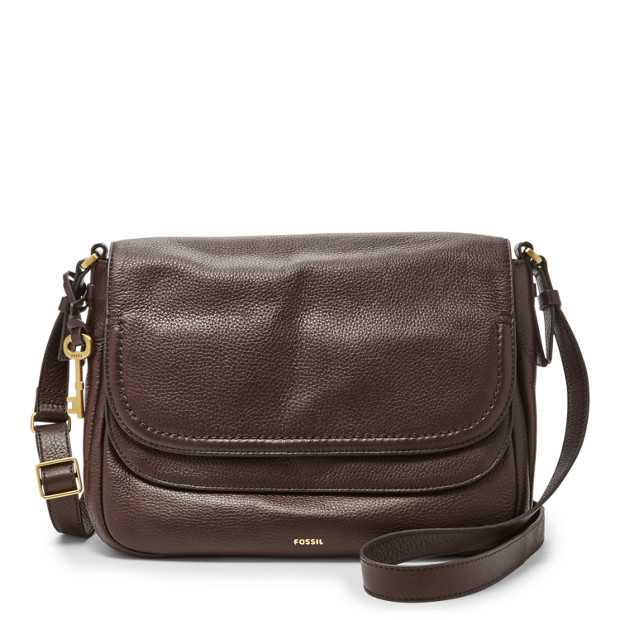 cf81156d9a Peyton Large Double Flap Crossbody - Fossil