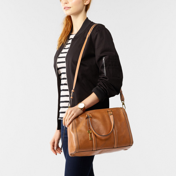 24f2bad5eb0c0 Kendall Large Satchel - Fossil