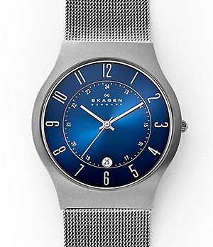 Grenen Steel-Mesh and Titanium Case Watch