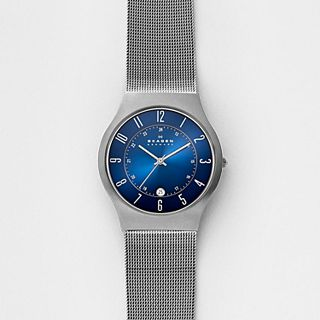 Grenen Steel Mesh and Titanium Case Watch