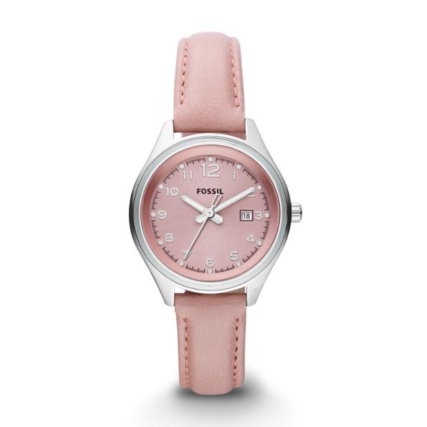 Flight Mini Three-Hand Leather Watch - Pink