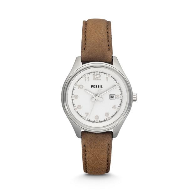Flight Mini Brown Leather Watch
