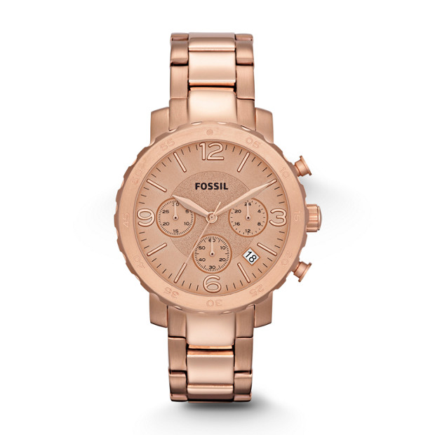 Natalie Chronograph Stainless Steel Watch - Rose