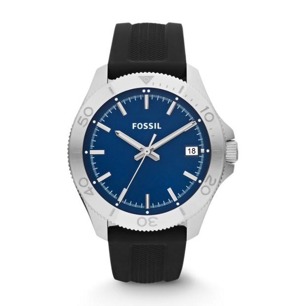 Retro Traveler Three Hand Silicone Watch – Blue