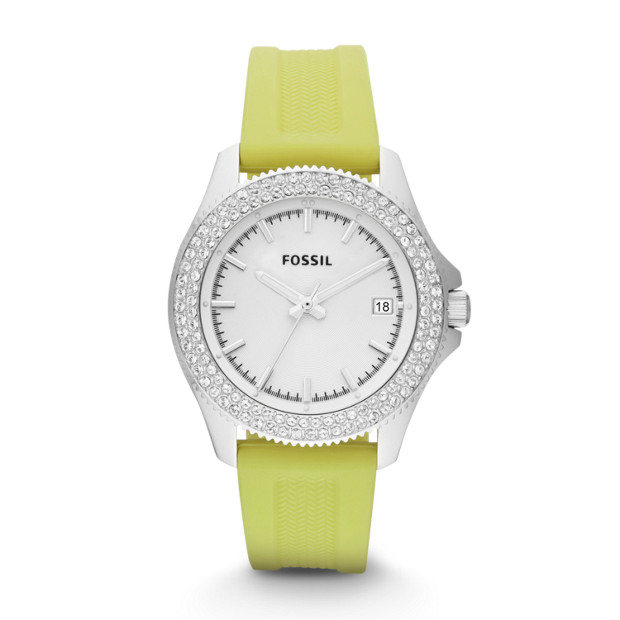 Retro Traveler Lime Silicone Watch