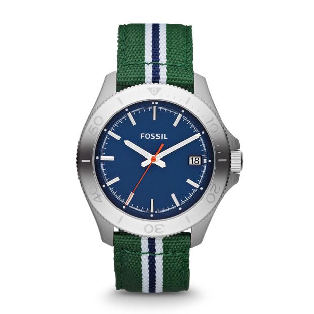 Retro Traveler Three Hand Nylon Watch – Green