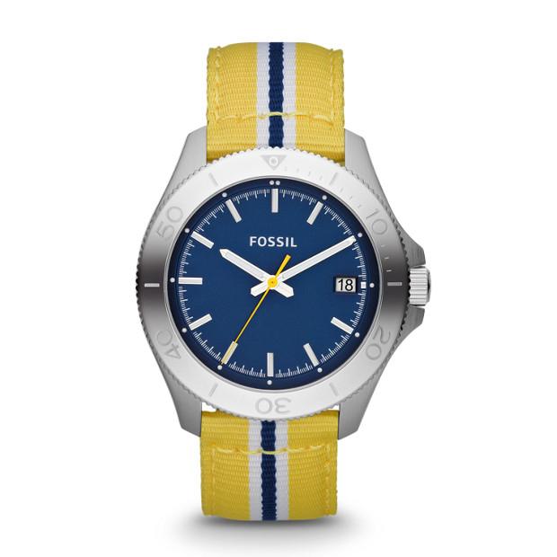 Retro Traveler Three Hand Nylon Watch - Yellow