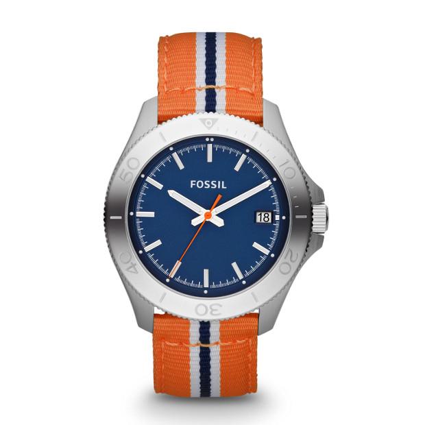 Retro Traveler Three Hand Nylon Watch - Orange