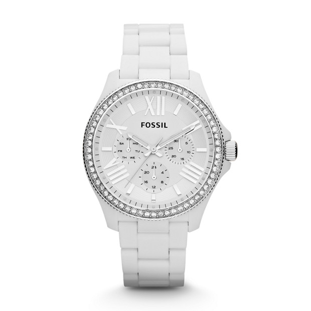 Cecile Multifunction Resin Watch - White