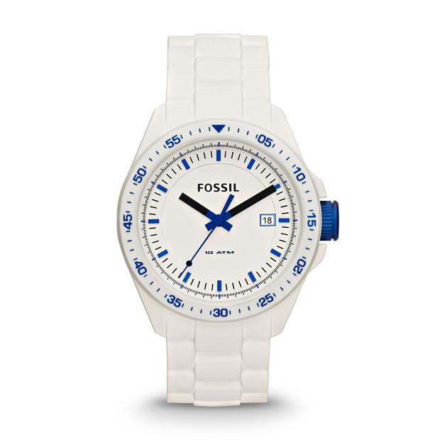 Decker Three-Hand Silicone Watch - White