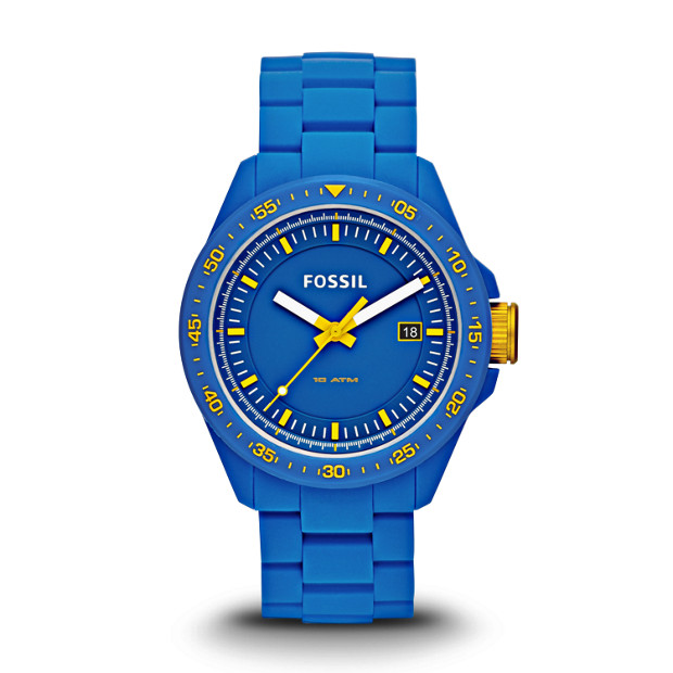 Decker Three-Hand Silicone Watch - Blue