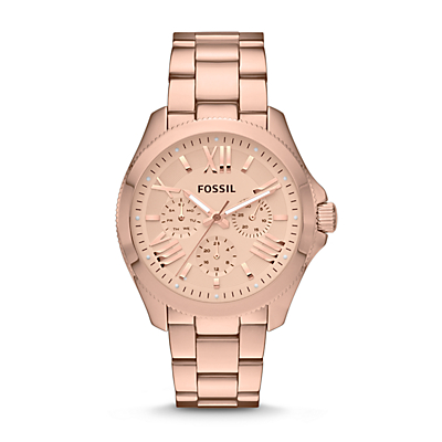 Cecile Multifunction Stainless Steel Watch - Rose