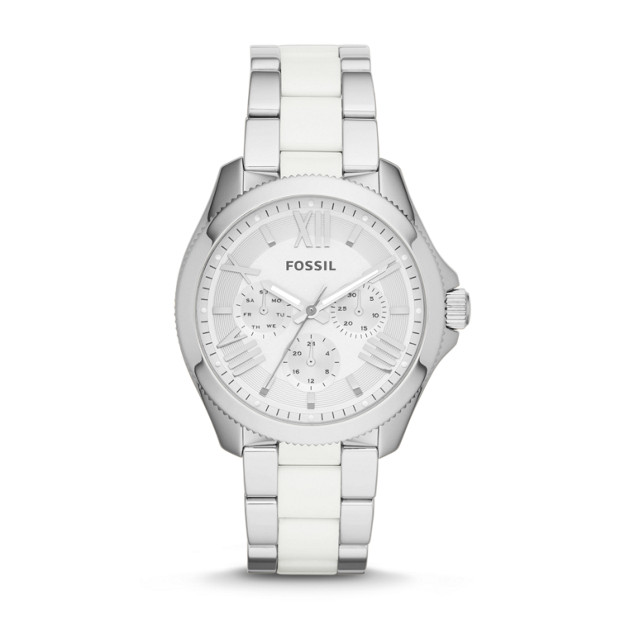 Cecile Multifunction Stainless Steel and Nylon Watch