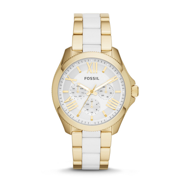 Cecile Multifunction Stainless Steel and Nylon Watch - Gold-Tone