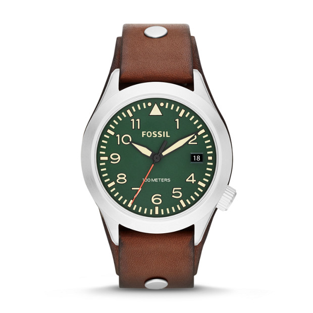 Aeroflite Brown Leather Watch