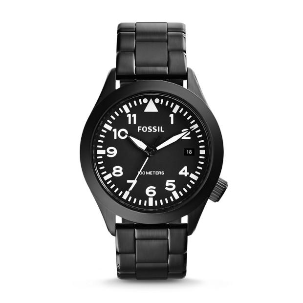 Aeroflite Black Stainless Steel Watch