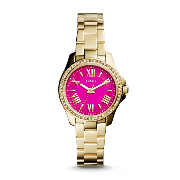 Cecile Small Three-Hand Stainless Steel Watch – Gold Tone
