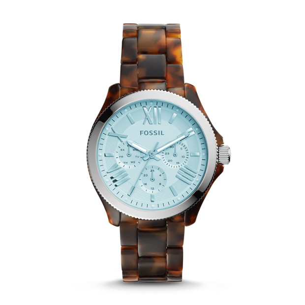 Cecile Multifunction Tortoise Acetate Watch
