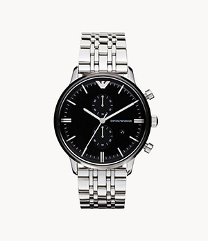 Emporio Armani Men's Chronograph Stainless Steel Watch