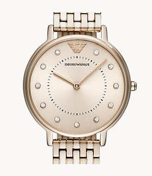 Emporio Armani Women's Two-Hand Pink Steel Watch