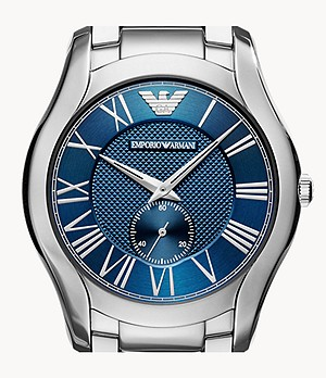 Emporio Armani Men's Three-Hand Stainless Steel Watch