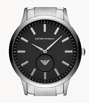 Emporio Armani Men's Three-Hand Steel Watch