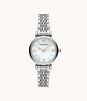 Emporio Armani Women's Two-Hand Stainless Steel Watch
