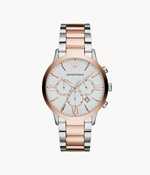 Emporio Armani Men's Chronograph Two-Tone Stainless Steel Watch