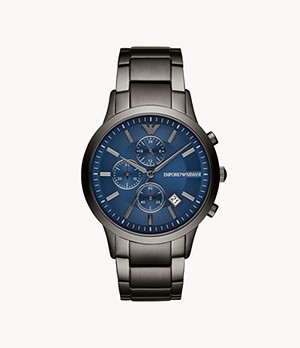 Emporio Armani Men's Chronograph Gunmetal Stainless Steel Watch