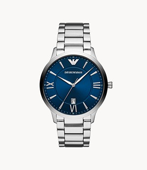 Emporio Armani Men's Three-Hand Date Stainless Steel Watch