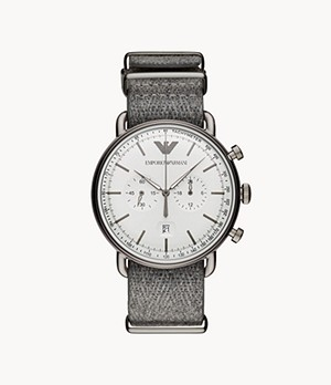 Emporio Armani Men's Chronograph Gunmetal NATO Watch