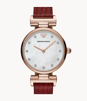 Emporio Armani Two-Hand Reversible Leather Watch