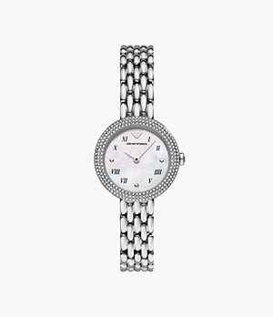 Emporio Armani Two-Hand Stainless Steel Watch